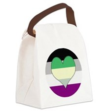 Aromantic Asexual Heart #2 Canvas Lunch Bag