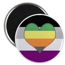 Aromantic Asexual Heart #1 Magnet