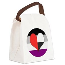 Demiromantic Asexual Heart Canvas Lunch Bag