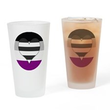 Heteroromantic Asexual Heart Drinking Glass