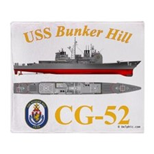 USS Bunker Hill CG-52 Throw Blanket