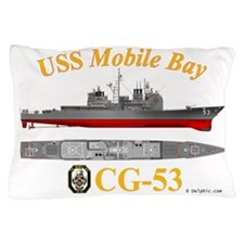CG-53 USS Mobile Bay Pillow Case