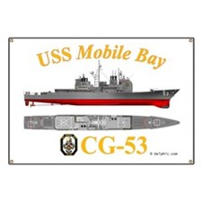 CG-53 USS Mobile Bay Banner