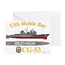 CG-53 USS Mobile Bay Greeting Card