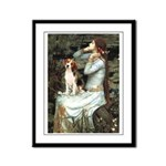 Ophelia & Beagle Framed Panel Print
