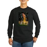 Fairies and Beagle Long Sleeve Dark T-Shirt
