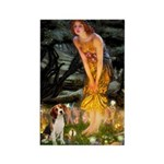 Fairies and Beagle Rectangle Magnet (10 pack)