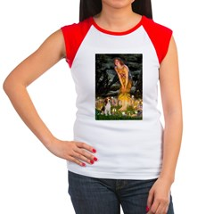Fairies and Beagle Women's Cap Sleeve T-Shirt