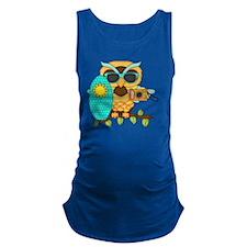 Surfin Boy Owl Maternity Tank Top