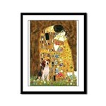 The Kiss & Beagle Framed Panel Print