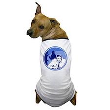 Office Worker Businessman Writing Wood Dog T-Shirt