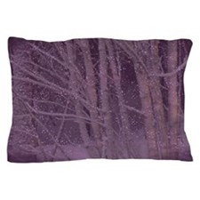Purple Winter Trees Pillow Case