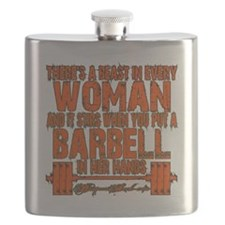 Beast in every woman Camo Hunter Flask