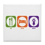 Eat Sleep Opera Tile Coaster