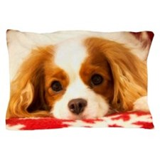 Profile Of A Cavalier King Charles Sea Pillow Case