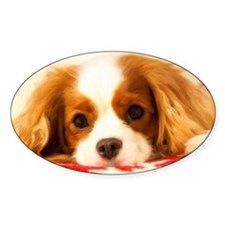 Profile Of A Cavalier King Charles  Decal