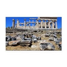 The temple of Athena Aphaea I Rectangle Car Magnet