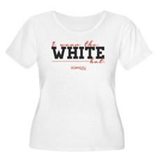 I Wear the White Hat Women's Plus Size Scoop Neck
