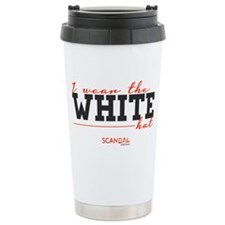 I Wear the White Hat Stainless Steel Travel Mug