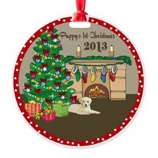 2013 Yellow Labs 1St Christmas Ornament