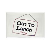 Out to Lunch Rectangle Magnet (10 pack)