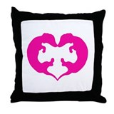 Dachshund Heart in Pink Throw Pillow