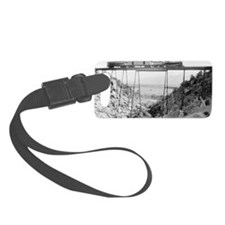 Train Crossing High Bridge Luggage Tag
