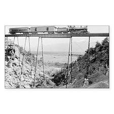 Train Crossing High Bridge Decal