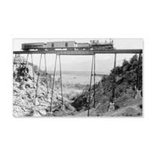 Train Crossing High Bridge Wall Decal