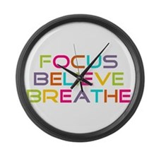 Multi Focus Believe Breathe Large Wall Clock