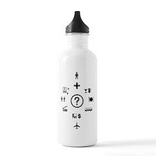 Travel Phrases Symbols Sports Water Bottle