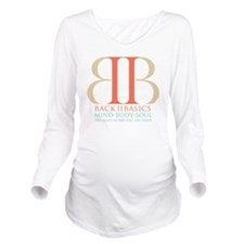 Back II Basics (tri- Long Sleeve Maternity T-Shirt