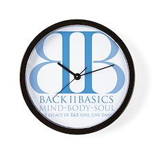 Back II Basics (dusk blue) Wall Clock