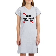 GIGI  NEVER RUNS  OUT OF HUGS   Women's Nightshirt