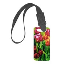 Tulip Watercolor Painting Luggage Tag