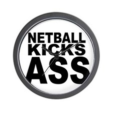 Netball Kicks Ass Wall Clock