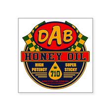 "DAB Honey Oil 710 Square Sticker 3"" x 3"""