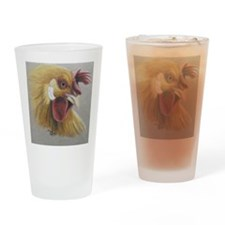 Rooster3 Drinking Glass