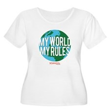 My World My Rules Women's Plus Size Scoop Neck T-S