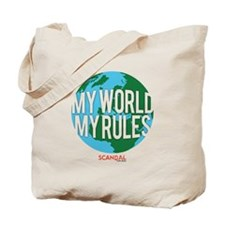 My World My Rules Tote Bag