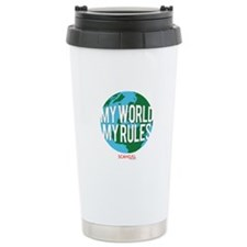My World My Rules Stainless Steel Travel Mug