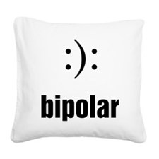 Bipolar Square Canvas Pillow