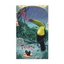 Art Nouveau Toucan Rectangle Car Magnet