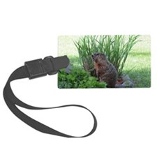 Groundhog in garden Luggage Tag