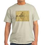 Spiral Manuscript T-shirt - Wht/Gry/Blu