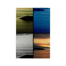 Quadriptych seascape Rectangle Magnet