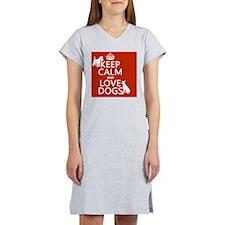Keep Calm and Love Dogs Women's Nightshirt