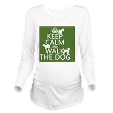 Keep Calm and Walk T Long Sleeve Maternity T-Shirt