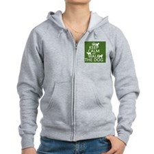 Keep Calm and Walk The Dog Zip Hoodie
