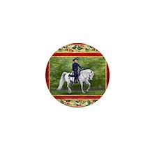 Arabian Horse Westsern Pleasure Christ Mini Button